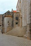 Stairs and walls Dubrovnik Croatia Royalty Free Stock Image