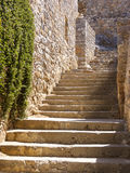 Stairs and walls in the Spinalonga island of Crete, Greece Royalty Free Stock Photos