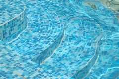 Stairs in water pool Royalty Free Stock Images