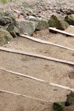 Stairs were made of sandy soil. Stock Photography