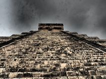 The stairs of the Castle,Chichen Itza. Stock Photography