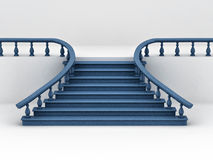 Stairs on white background. 3d Stock Photos
