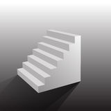 Stairs  on white background.  illustration eps 10 Royalty Free Stock Images