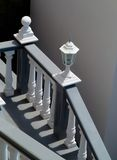 Stairs and white balustrade Stock Image