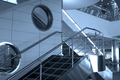 Stairs and windows,Domodedovo Royalty Free Stock Image