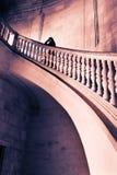 stairs woman Στοκ Φωτογραφία