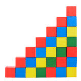 Stairs from wooden blocks Royalty Free Stock Photo