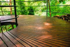 Stairs in the woods at Kanchanaburi , thailand royalty free stock image
