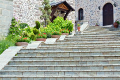 Stairs in the yard Stock Photography