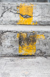 Stairs with yellow line Stock Photos