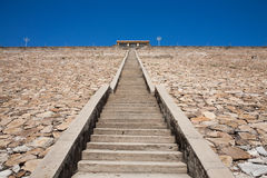 Stairsteps to the top of dam Royalty Free Stock Image