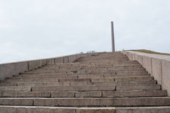 Stairts leading to USSR military monument of soviet soldiers Stock Image