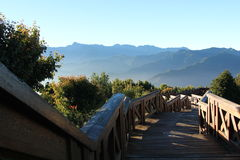 Stairway às montanhas do jade, Formosa Foto de Stock Royalty Free