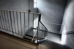 stairway аварийного выхода промышленный Стоковая Фотография RF