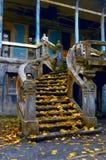 stairway осени старый Стоковое фото RF