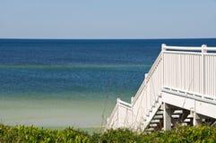 stairway пляжа к Стоковые Изображения RF