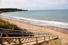 stairway пляжа к Стоковое фото RF