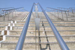 A stairway. It is a stairway up to the sky Royalty Free Stock Photography