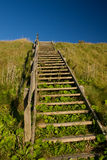 Stairway. A wooden stairway to the sky Royalty Free Stock Images