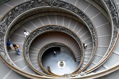 Stairway in Vatican , Rome , Italy Royalty Free Stock Photo