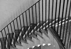 Stairway. Beautiful Black and White image of a unusual Staircase Royalty Free Stock Image
