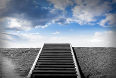 Stairway. To heaven, Sky, Concept Royalty Free Stock Photo