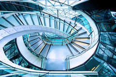 Stairway from above Stock Photo