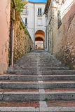 Stairway in alley Royalty Free Stock Images