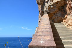 Stairway along the cliffs Stock Image