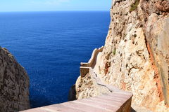 Stairway along the cliffs Stock Photos