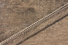 Stairway at the ancient city wall. Huge stairway at the ancient city wall in Xian, Shanxi Province, China Stock Image