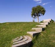 Stairway ao céu. imagens de stock royalty free
