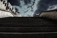 Stairway ao céu foto de stock