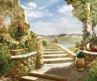 Stairway ao céu Imagens de Stock Royalty Free