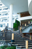 Stairway and Balconies. A stairway with hotel balconies at the background Stock Image