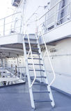 Stairway on battleship ship Stock Photos