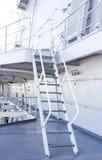 Stairway on battleship ship Stock Photos