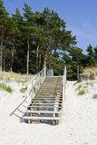 Stairway from the beach Stock Photo