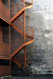 stairway bike стоковое изображение