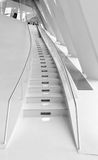 The Stairway. Black and White photo taken in the Mercedes Benz museum Royalty Free Stock Photo