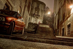 Stairway and car Stock Images