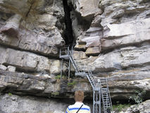 Stairway - Carnarvan Gorge Stock Photo