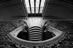 Stairway in a castle. Renaissance stairway in a castle in europe royalty free stock photography