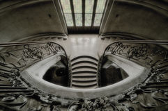 Stairway in a castle. Renaissance stairway in a castle in europe Stock Photo