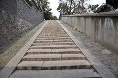 Stairway of chinese traditional wall Stock Image