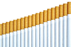Stairway of cigarettes Royalty Free Stock Photos