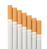 Stairway  of cigarettes Stock Photos