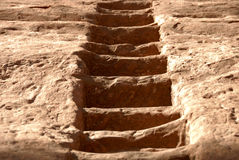 Stairway cinzelado do Sandstone Imagem de Stock