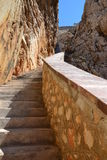 Stairway on the cliffs Royalty Free Stock Image