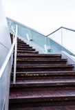 Stairway. Closeup of a stairway outdoors Royalty Free Stock Photo